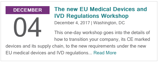 The new EU Medical Devices and IVD Regulations Workshop